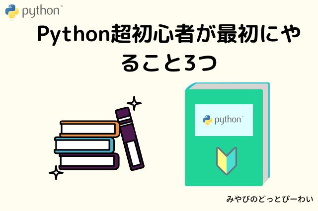 Python初心者がやること